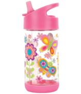 Stephen Joseph Flip Top Water Bottle Butterfly