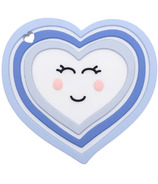 Little Cheeks Heart Teether and Pacifier Clip Blue