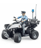 Bruder Toys Police Quad with Police Officer & Accessories