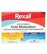Rexall Extra Strength Cold Medication Day and Night Combo Pack