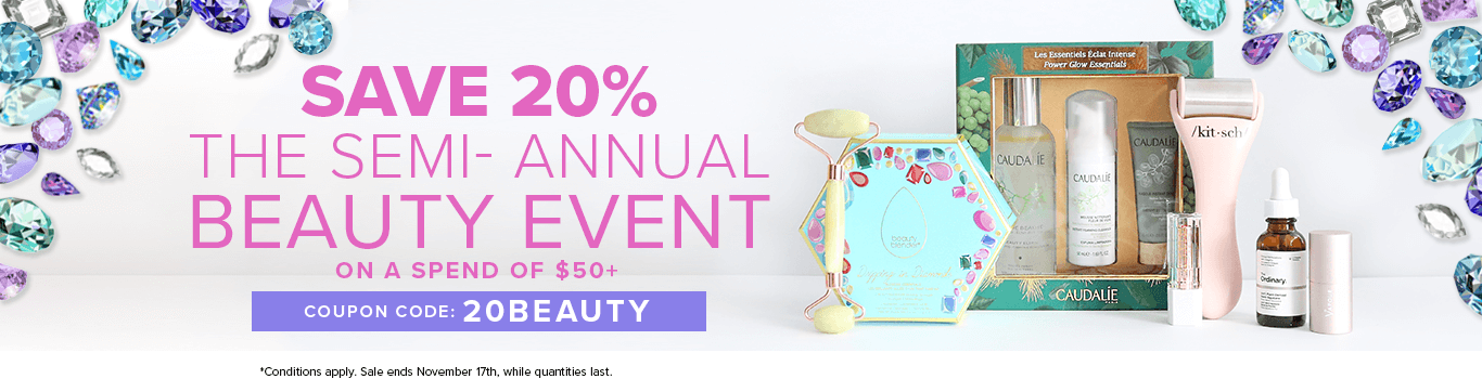 Spend $50 on the Beauty Event and save 20% off
