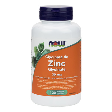 NOW Foods Zinc Glycinate 30 mg