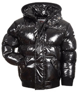 Appaman Puffy Coat Black Glitter