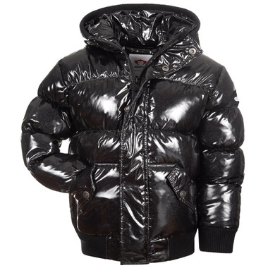 Appaman Puffy Coat Black Glitter