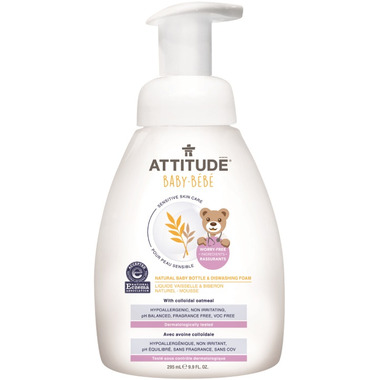 ATTITUDE Natural Baby Bottle & Dishwashing Foam