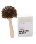 No Tox Life Dish Block Bar & Natural Dish Brush Bundle