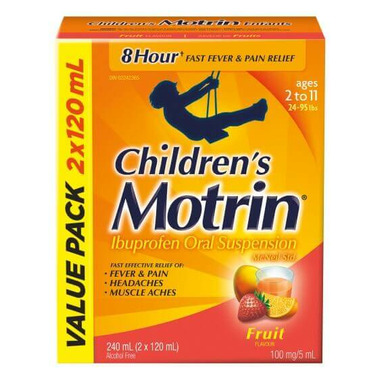 Children\'s Motrin Ibuprofen Oral Suspension Fruit