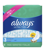 Always Ultra Thin Extra Long Super Pads With Wings Unscented