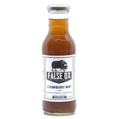 False Ox Strawberry Mint Shrub Drinking Vinegar