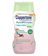 Coppertone Pure & Simple Baby Sunscreen Lotion Hypoallergenic SPF 50