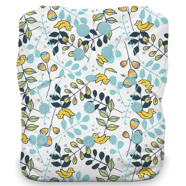 Thirsties Natural One Size All in One Snap Diaper Birdie