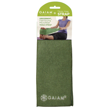 Gaiam Thirsty Yoga Strap-Green