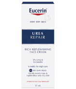 Eucerin Urea Repair Rich Replenishing Face Night Cream with 5% Urea