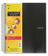 Five Star 3-Subject Notebook