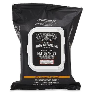 J.R. Watkins Men\'s Bergamot & Oak Body Cleansing Wipes