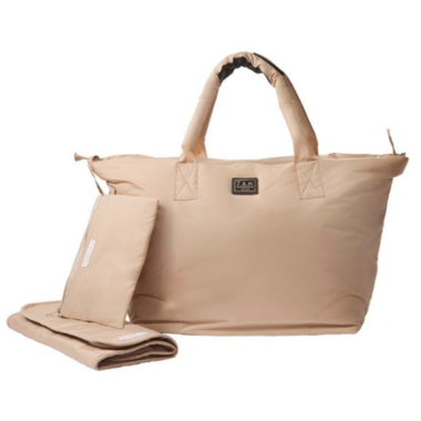 7 A.M Enfant Roma Diaper Bag Beige