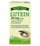 Nature's Truth Lutein 20mg Plus Zeaxanthin And Bilberry