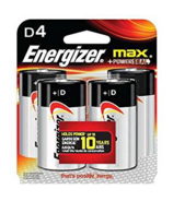 Energizer Multi D4 Batteries