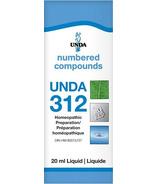 UNDA Numbered Compounds UNDA 312 Homeopathic Preparation