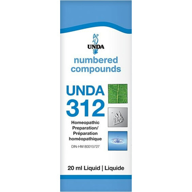 UNDA Numbered Compounds UNDA 312 Homeopathic Preparation