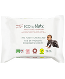 Eco by Naty Sensitive Wipes Unscented Travel Pack
