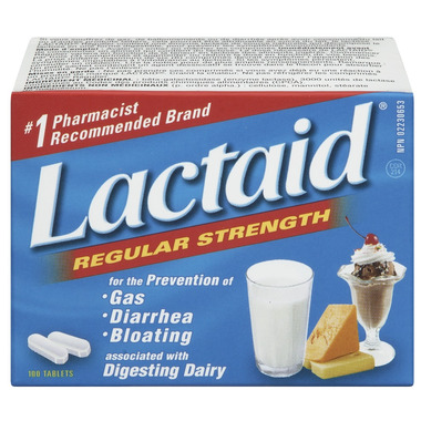 Lactaid Regular Strength Tablets