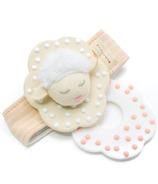 MITTEEZ WRISTEEZ Organic Baby Teething Wristlet Rattle Milly the Lamb