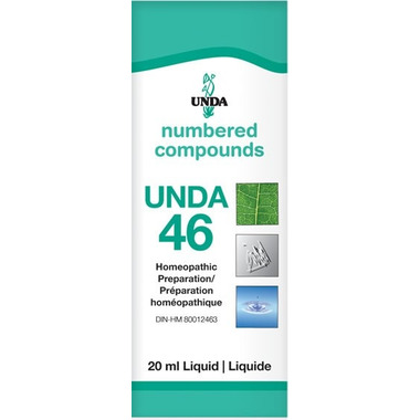 UNDA Numbered Compounds UNDA 46 Homeopathic Preparation