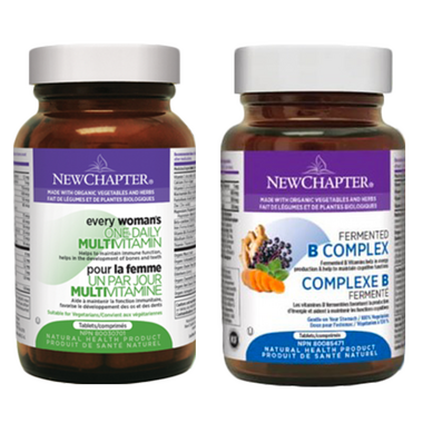New Chapter Every Woman One Daily + Fermented B Complex Bundle