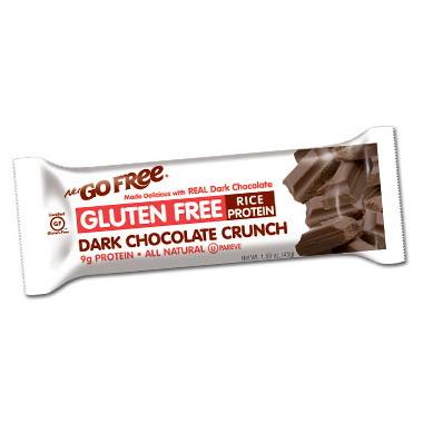 NuGo Gluten Free Dark Chocolate Crunch Bars Case of 12