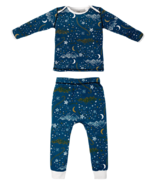 Nest Designs Organic Cotton Two Piece PJ Set Stars Blue