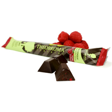 Theobroma Raspberry Chunks Dark Chocolate Stick