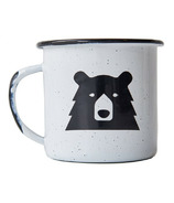 North Standard Trading Post Mascot Enamel Mug White