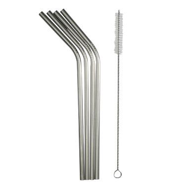 Danesco Reusable Straws Stainless Steel