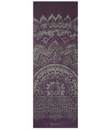 Gaiam Premium Reversible Print Yoga Mat 6 mm Plum Etching