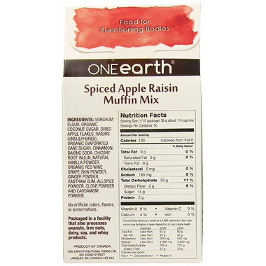 ONEearth Spiced Apple Raisin Muffin Mix