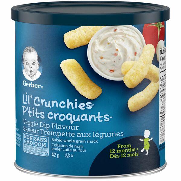 Gerber- Lil Crunchies Veggie Dip Flavour