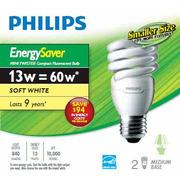Philips - 60W CFL Mini Twist - Soft White