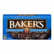 Bakers - Unsweetened Chocolate Squares