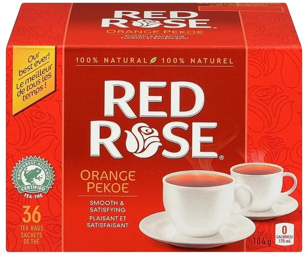 Red Rose - Tea Bags - Orange Pekoe - 36 Pack