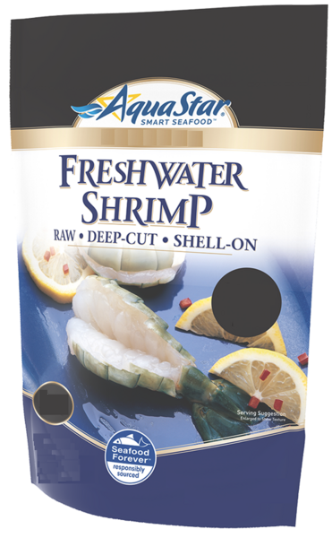 Aqua Star - Freshwater Shrimp - 6 to 8 per Pound