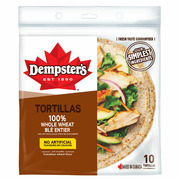 "Dempster's - 10"" Whole Wheat Tortilla"
