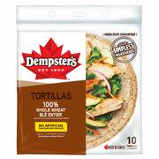 "Dempster's - 10"" Whole Wheat Tortilla"