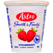 Astro Smooth 'n Fruity Stirred Yogurt Strawberry