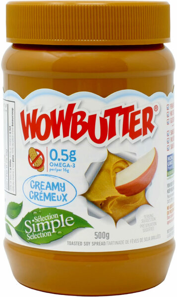 WOWBUTTER - Toasted Soy Spread - Creamy - Vegan
