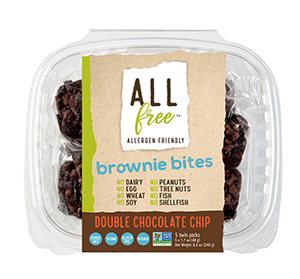 All Free - Double Chocolate Brownie Bites