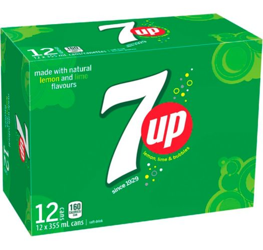 7up - Lemon, Lime & Bubbles - 12 pack