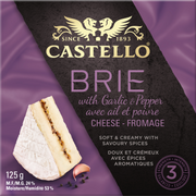 Brie With Garlic and Pepper
