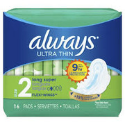 Always - Maxi Pads Ultra Thin Long Super