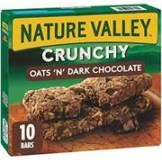 Nature Valley Crunchy Oats N Dark Chocolate Granola Bars